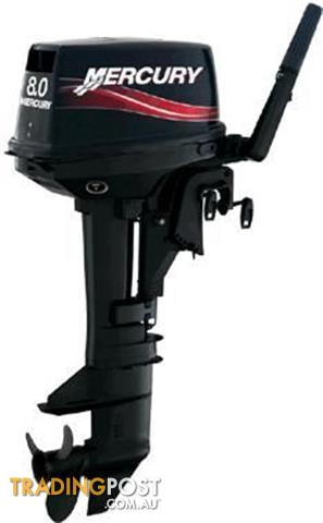 Mercury 8hp 2 Stroke Outboard Short Shaft Boat Fishing For