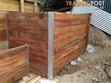Landscaping Hardwood Sleepers Untreated