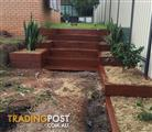 Hardwood Sleeper Garden Edging