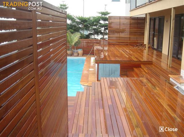 Spotted gum decking long lengths for sale in moorooka qld for Decking timber lengths