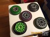 5 X PRO SCOOTER WHEELS IN GOOD CONDITION