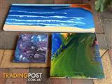 3 NICE CANVAS PAINTINGS $15 FOR ALL 3