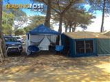 Camper trailer with Gazebo and camp bunks included