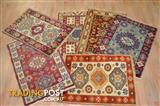 $109 NEW Hand Knotted Wool Floor Rug 60x90cm Made in India (Kazak)
