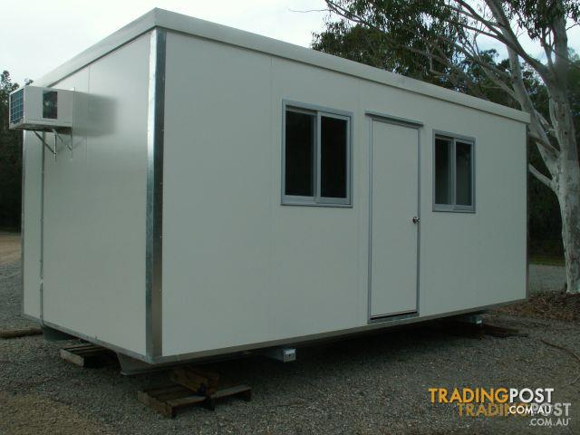 Brandnew portable building office site shed donga 6m x 3m for Portable shed office