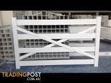 PVC Vinyl 4 Rail Rural Ranch Fence