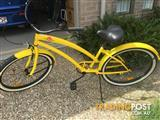 Ladies Yellow Skullxbones 1sp Beach Cruiser