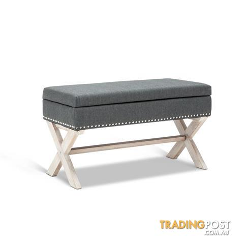 Seat Footstool Bench Stool Storage Ottoman   Grey