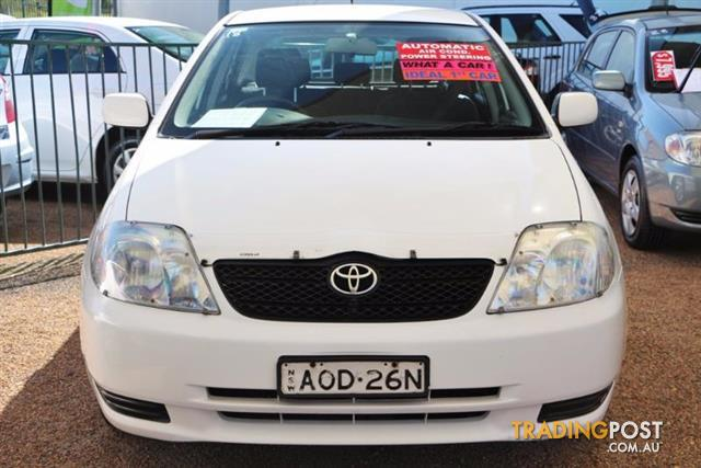 2002 toyota corolla ascent hatchback for sale in minchinbury nsw 2002 toyota corolla ascent. Black Bedroom Furniture Sets. Home Design Ideas