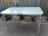 3 x aluminium framed picnic tables $80 the lot or for sale individually