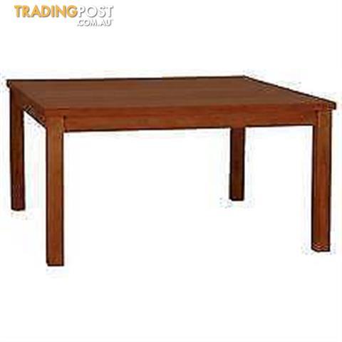 New 8 Seater Hampton Pecan Mahogany Square Timber Dining Table