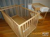 Ikea Sniglar Cot & Change Table