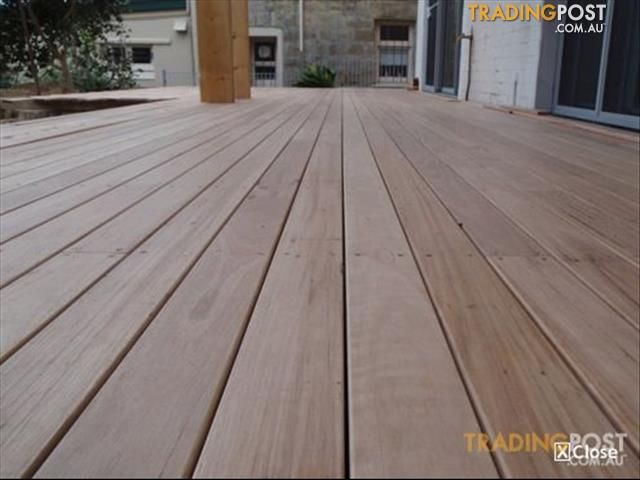 Timber decking white mahogany 130 x 19mm solid for sale in for Timber decking for sale