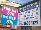 PINK SLIP $20 E-SAFETY CHECK $20 REGO INSPECTION $20