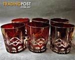 6 Turkish Glassware Tumblers