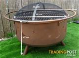 Stars & Moon Fire Pit-Camp Fire- BBQ Grill - 2 in 1 - 75cm FREE SHIPPING