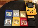 Pokemon gameboy colour console with Pokemon games