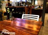 Recycled Solid Timber Cafe Tables