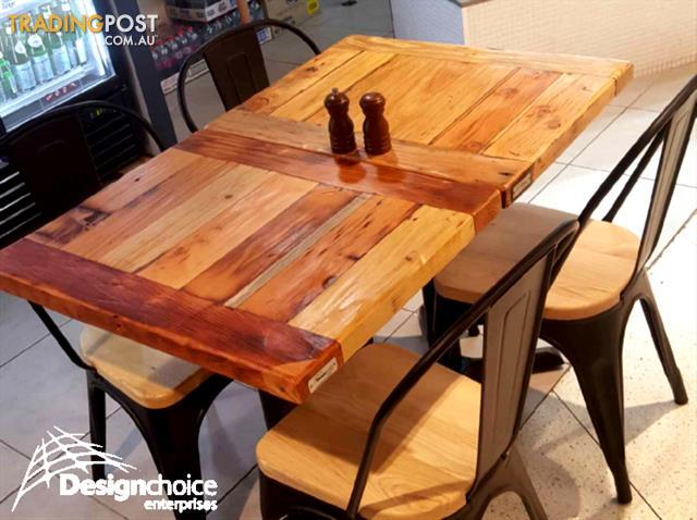 Industrial Restaurant Timber Table Tops SALE SYDNEY