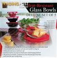 Heat Resistant Glass Bowls Set 5