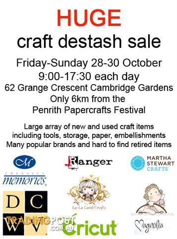 HUGE Craft Destash Sale