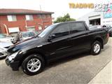 2009 SSANGYONG ACTYON SPORTS TRADIE Q100 MY08 DOUBLE CAB UTILITY
