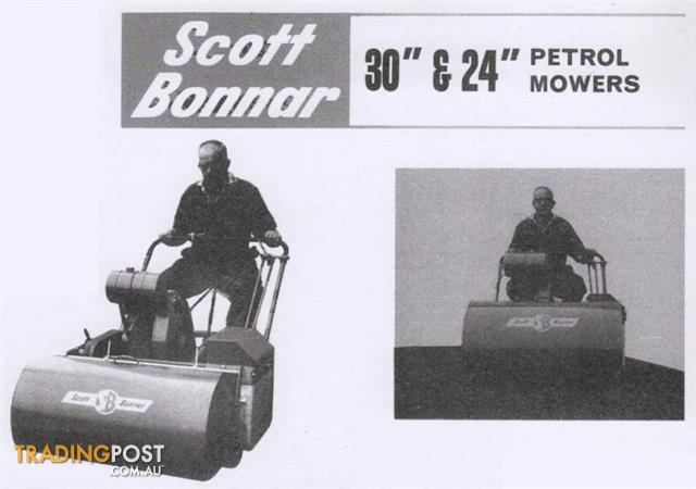 30-SCOTT-BONNAR-2-SPEED-BOWLING-REEL-CYLINDER-ROLLER-MOWER