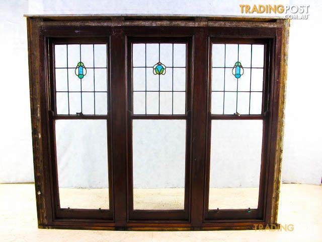Triple Hung Windows : Triple hung leadlight windows hughes renovators paradise