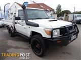 2010 TOYOTA LANDCRUISER WORKMATE (4x4) VDJ79R 09 UPGRADE C/CHAS