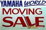 Moving Sale. YAMAHA WORLD old stock, shop fittings, random...