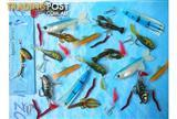 NEW X 20 MIXED FISHING LURES. PICK UP OR POST $2.95