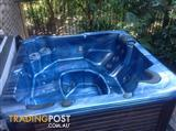 Maaxspa 450s outdoor spa / hot tub working, filled with water