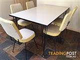 Retro 1950's kitchen table and chairs