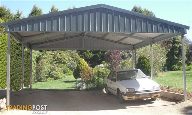 Shed City Factory Manufactured Wider Gable Carport Outdoor
