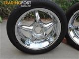 Subaru Forester 4 18 inch chrome wheels and tyres
