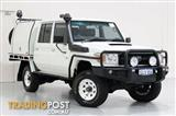 2013 Toyota Landcruiser Workmate (4x4) VDJ79R MY12 Update Double Cab Chassis