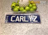 number plate - CARLYZ