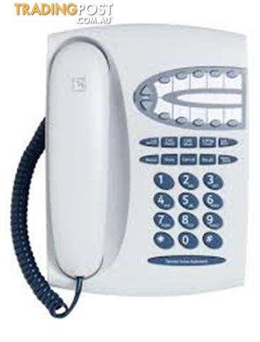 TELSTRA T1000S FIXED LINE PHONE CORDED PUSH BUTTON TELEPHONE