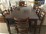 10 Seat Solid Timber Dining Table