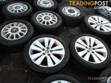 07 - 11 HOLDEN WM CAPRICE 18INCH GENUINE ALLOY WHEELS and TYRES