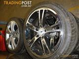 HOLDEN COMMODORE MAZ 18 inch ALLOY WHEELS AND TYRES