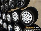 HOLDEN COMMODORE ALLOY VN SS GENUINE WHEELS & TYRES