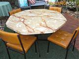 RETRO LAMINEX TABLE and 4 MATCHING CHAIRS
