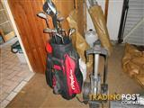 Left handed Golf club set with Bag and folding trolley