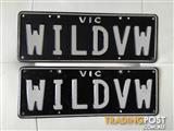 custom VW number plates