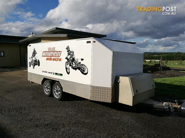 Enclosed motorcycle bike or quad trailer for sale in for 4 box auto in tandem