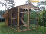 Chicken coop rabbit Cat Enclosure Somerzby Homestead HUGE WALK IN