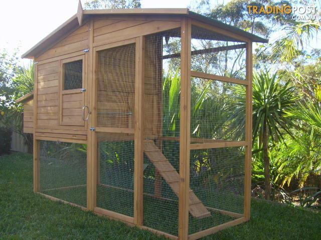Chicken Coop Rabbit Cat Enclosure Hutch Cage Large