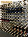 Assembled Wine Rack wood and metal cellar storage 140 Bottle