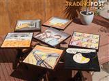 Bespoke art-imaged cafe tables